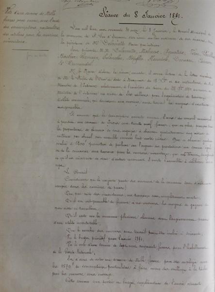 Extrait conseil municipal_8 janvier 1871